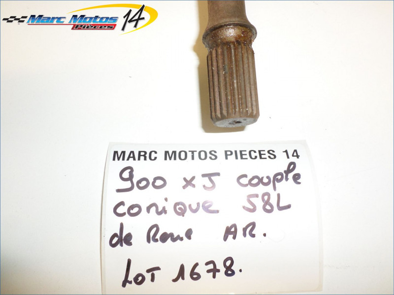 COUPLE CONIQUE DE ROUE ARRIERE YAMAHA 900 XJ 1985